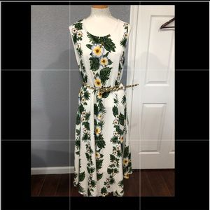 Maxi floral dress, one size fits all